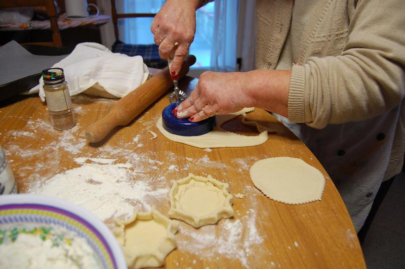 Tagliare la pasta a cerchio
