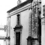 Vecchia fotografia della facciata della Chiesa di S.Antonio Melilli